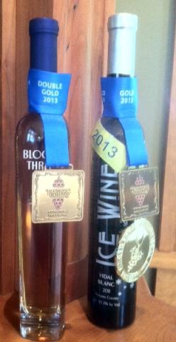 Schulze 2011 Block Three and Vidal Blanc ice wine