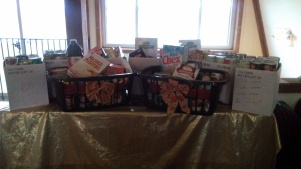 Items to be donated at A Gust of Sun Winery
