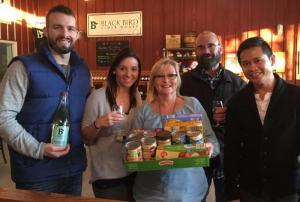 BlackBird Cider Works raised funds and items for the Asha Sanctuary and Newfane Food Bank.